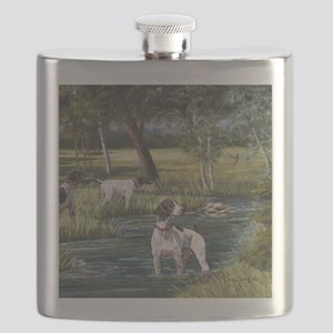 German Shorthaired Pointerd Flask