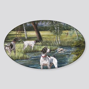 German Shorthaired Pointerd Sticker (Oval)