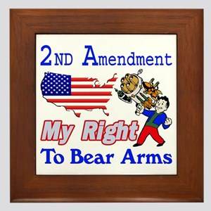 My Right To Bear Arms Framed Tile