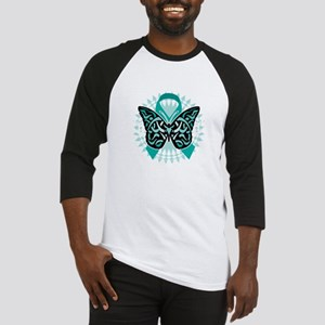 Cervical-Cancer-Butterfly-Tribal-2 Baseball Jersey