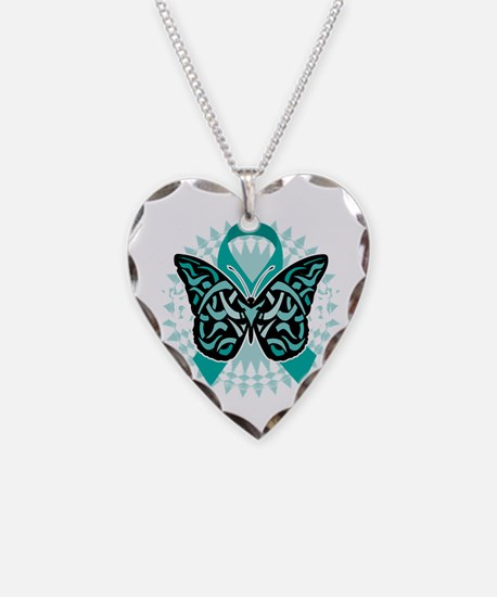 Cervical-Cancer-Butterfly-Tri Necklace