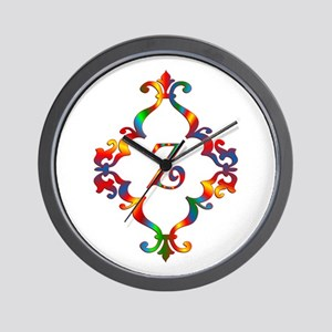 Colorful Letter Z Monogram Initial Wall Clock