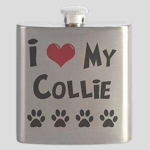I-Love-My-Collie Flask