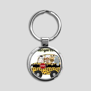 schoolkindergartener Round Keychain