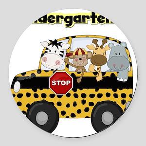 schoolkindergartener Round Car Magnet