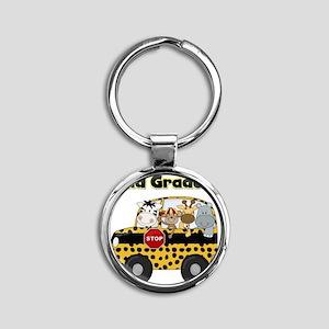 school2ndgrader Round Keychain
