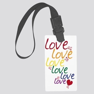 love is love2 Large Luggage Tag