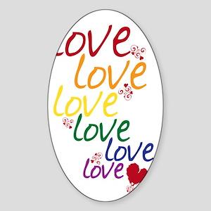 love is love2 Sticker (Oval)
