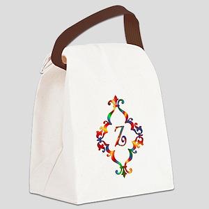 Colorful Letter Z Monogram Initia Canvas Lunch Bag