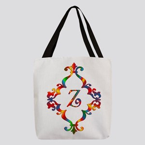 Colorful Letter Z Monogram Init Polyester Tote Bag