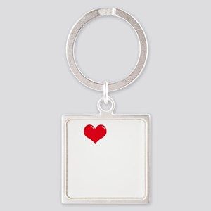 I-Love-My-Poodle-dark Square Keychain