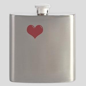 I-Love-My-Poodle-dark Flask