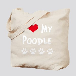 I-Love-My-Poodle-dark Tote Bag