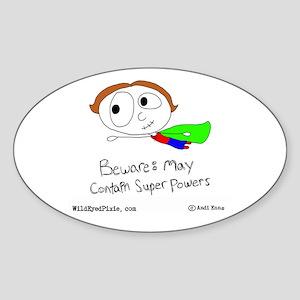 WildEyedPixie Superpowers Oval Sticker