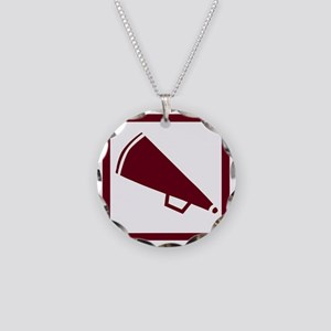 j0383900maroon Necklace Circle Charm