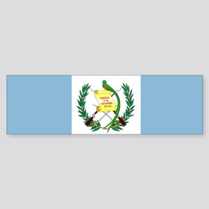 Guatemalan flag Sticker (Bumper)