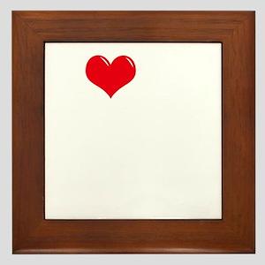 I-Love-My-Mastiff-dark Framed Tile
