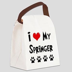 I-Love-My-Springer Canvas Lunch Bag