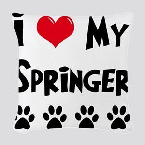 I-Love-My-Springer Woven Throw Pillow
