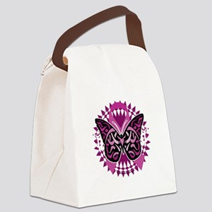 Crohns-Disease-Butterfly-Tribal-b Canvas Lunch Bag