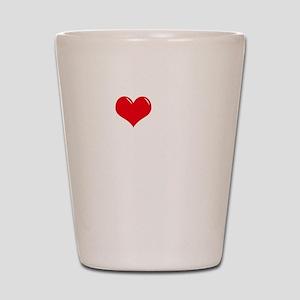 I-Love-My-Doodle-dark Shot Glass