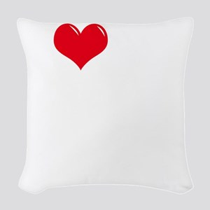 I-Love-My-Doodle-dark Woven Throw Pillow