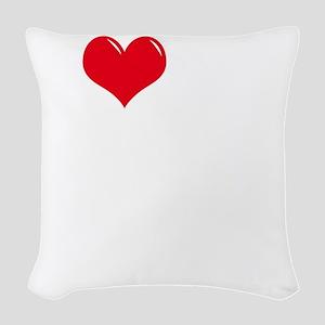 I-Love-My-Doodle-dark Woven Throw Pillow