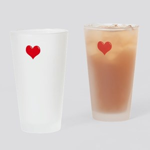I-Love-My-Doodle-dark Drinking Glass