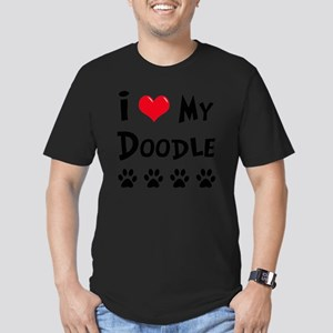I-Love-My-Doodle Men's Fitted T-Shirt (dark)
