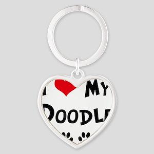 I-Love-My-Doodle Heart Keychain