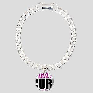 Crohns-Disease-Find-A-Cu Charm Bracelet, One Charm