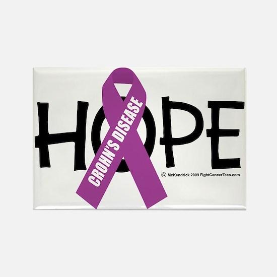 Crohns-Disease-Hope Rectangle Magnet