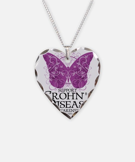 Crohns-Disease-Butterfly Necklace