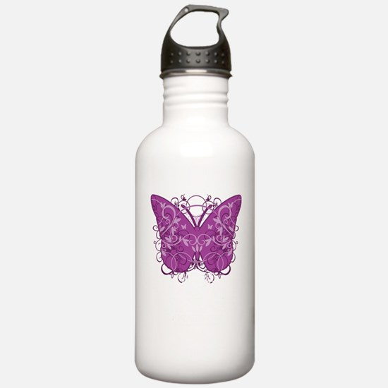 Crohns-Disease-Butterf Sports Water Bottle