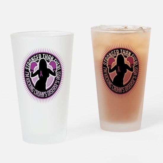Crohns-Disease-Boxing-Girl Drinking Glass