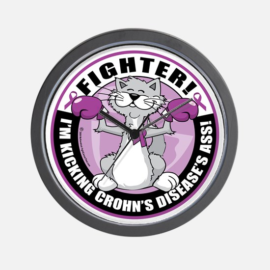Crohns-Disease-Cat-Fighter Wall Clock