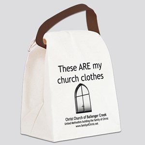 CUMC_churchclothes2_10x10_BW Canvas Lunch Bag