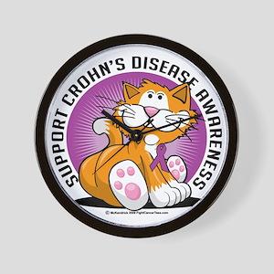 Crohns-Disease-Cat Wall Clock