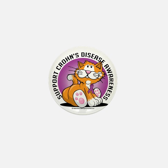 Crohns-Disease-Cat Mini Button