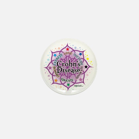 Crohns-Disease-Lotus Mini Button