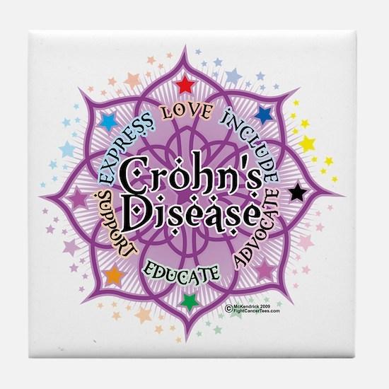 Crohns-Disease-Lotus Tile Coaster