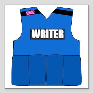 "writerbutton Square Car Magnet 3"" x 3"""