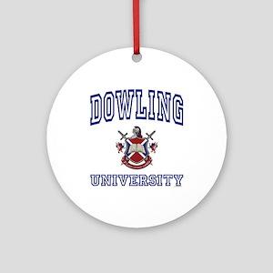 DOWLING University Ornament (Round)