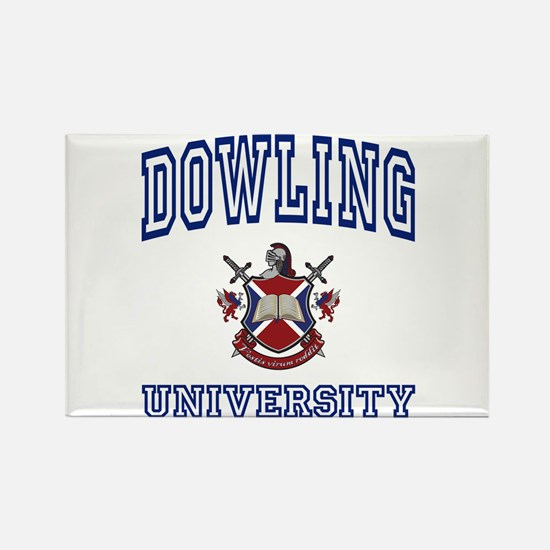 DOWLING University Rectangle Magnet