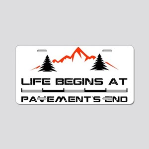 2-Mountain Aluminum License Plate