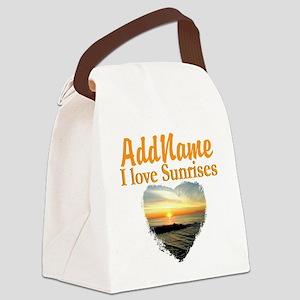 LOVE SUNRISES Canvas Lunch Bag