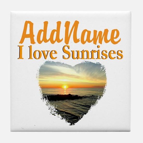 LOVE SUNRISES Tile Coaster