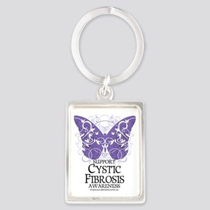 Cystic-Fibrosis-Butterfly Portrait Keychain