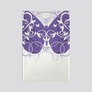 Cystic-Fibrosis-Butterfly-blk Rectangle Magnet