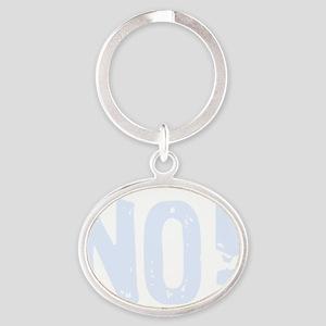 NOtouchbelly4dk Oval Keychain